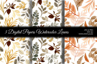 Print on Demand: Seamless Pattern Leaves Watercolor 16 Graphic Patterns By asrulaqroni 1