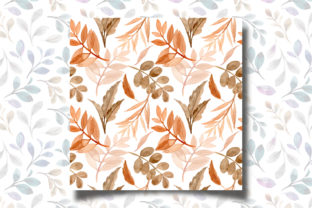 Print on Demand: Seamless Pattern Leaves Watercolor 16 Graphic Patterns By asrulaqroni 4