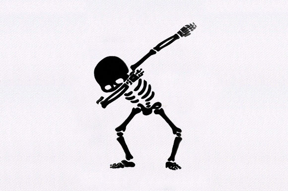 Skeleton Dab Style Halloween Embroidery Design By DigitEMB