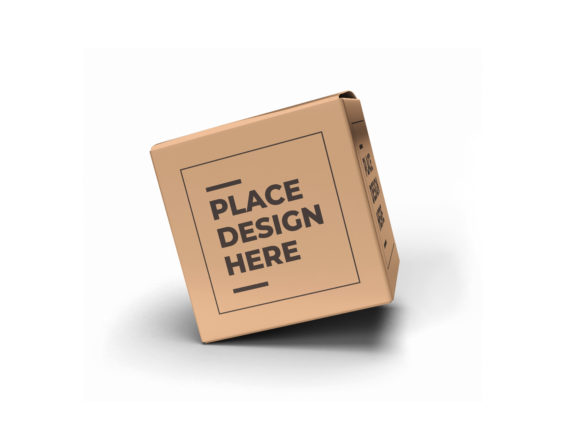 Print on Demand: Square Box Packaging Mockup Template Graphic Product Mockups By dendysign