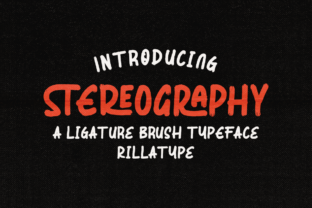Print on Demand: Stereography Display Font By Rillatype