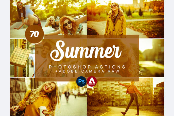 Summer Photoshop Actions Graphic Actions & Presets By Snipersden
