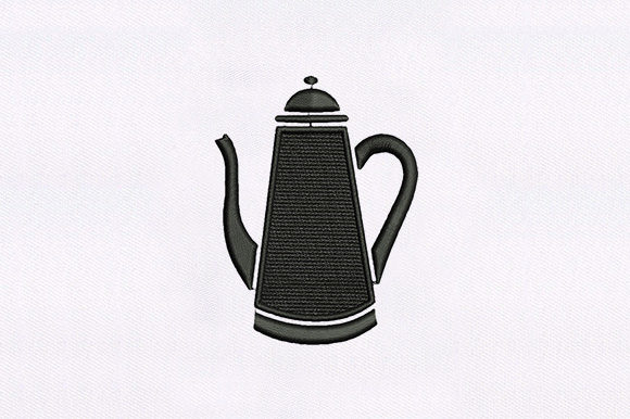 Teapot Tea & Coffee Embroidery Design By DigitEMB