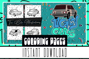 Print on Demand: Ugly Car Coloring Book 10 Pages for All Graphic Coloring Pages & Books Kids By Lapiiin