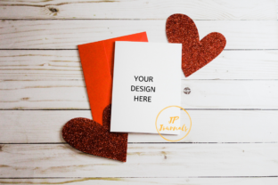 Print on Demand: Valentines Day Greeting Card Mockup Graphic Product Mockups By jpjournalsandbooks