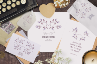Print on Demand: Vintage Spring Clipart Floral Dividers Graphic Illustrations By Wallifyer