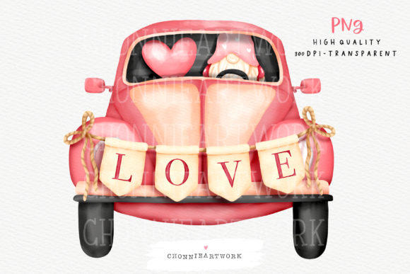 Watercolor Valentine's Day Clipart Graphic Crafts By Chonnieartwork