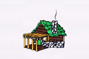 Wooden House House & Home Embroidery Design By DigitEMB