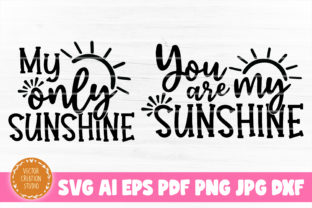 Print on Demand: You Are My Sunshine Mom Daughter SVG Graphic Crafts By VectorCreationStudio
