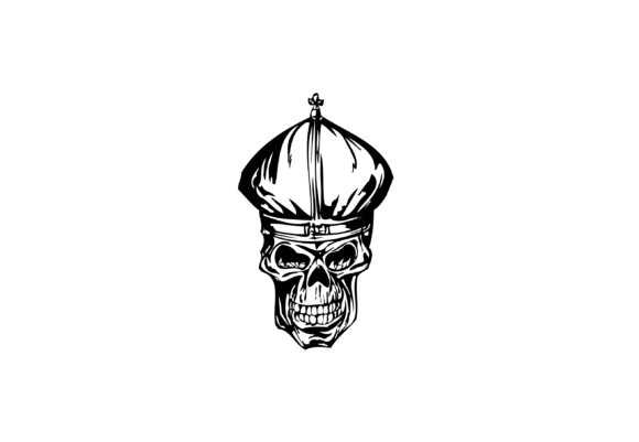 Print on Demand: Chinese Warrior Skull Illustrations Graphic Illustrations By nisakaart