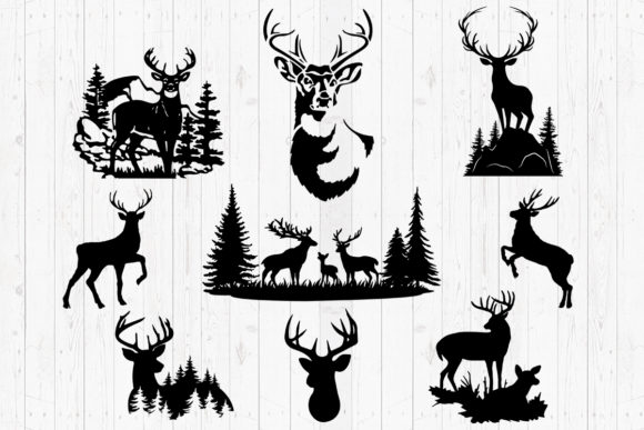 Print on Demand: Deer, Svg, Png, Dxf, Eps. Graphic Crafts By LightBoxGoodMan
