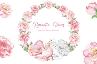 Doves Watercolor Clipart.Valentine's Day Graphic Illustrations By EvArtPrint