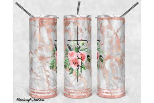 Print on Demand: Faith 20oz Skinny Tumbler Sublimation Graphic Crafts By Mockup Station