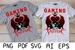Print on Demand: Gaming is My Valentine 2021 Gráfico Crafts Por Digital Creations