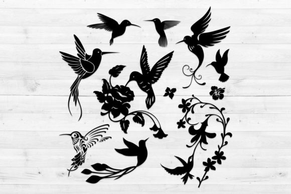 Print on Demand: Hummingbirds, Svg, Png, Dxf, Eps. Graphic Crafts By LightBoxGoodMan