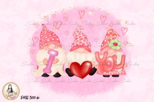 Print on Demand: I Love You Valentine's Day Sublimation Graphic Illustrations By Suda Digital Art