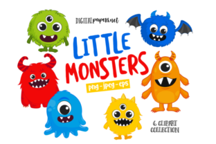 Print on Demand: Little Monster Clipart Graphic Illustrations By DigitalPapers