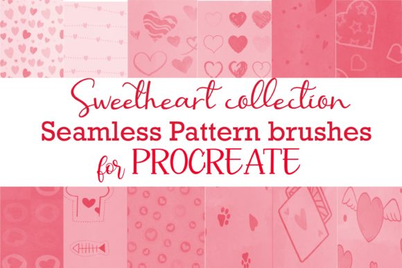 Procreate Seamless Pattern Sweetheart Graphic Brushes By PoyJazz