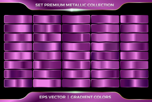 Purple Violet Swatches Color Gradient Graphic Actions & Presets By visitindonesia