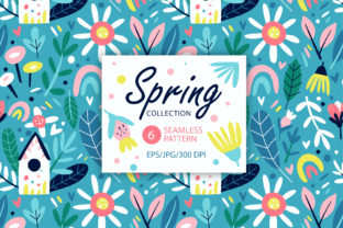 Print on Demand: Spring Floral Seamless Patterns. Graphic Patterns By FindsArtDesign