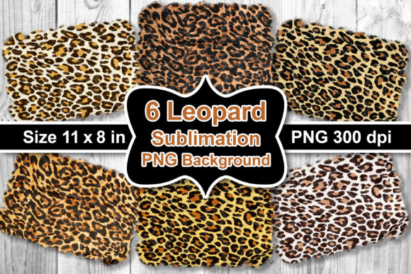 Print on Demand: Sublimation Leopard PNG Background Set Graphic Crafts By V-Design Creator