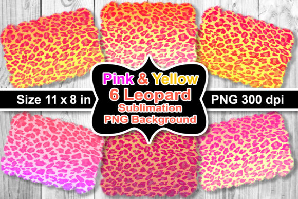 Print on Demand: Sublimation Pink-Yellow Leopard BG Graphic Crafts By V-Design Creator