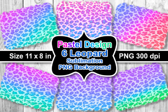 Print on Demand: Sublimation Pastel Leopard Background Se Graphic Crafts By V-Design Creator
