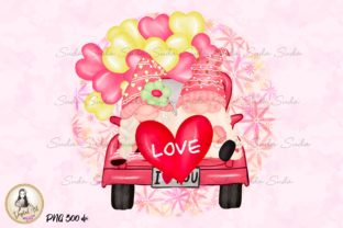 Print on Demand: Truck Love Sweet Valentine's Sublimation Graphic Illustrations By Suda Digital Art