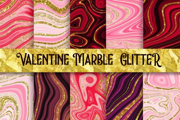 Valentine Marble Glitter Background Graphic Backgrounds By PinkPearly