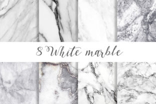 Print on Demand: White Marble Digital Paper Pattern Graphic Patterns By beracaink