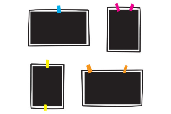 Print on Demand: Doodle Photo Frame Graphic Icons By GwensGraphicstudio