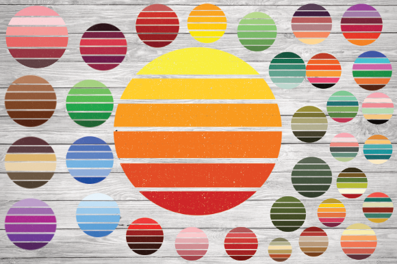 Print on Demand: Vintage Sun for Design Graphic Illustrations By rayan