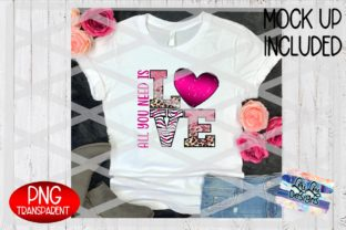 Print on Demand: All You Need is Love Pink Leopard PNG Graphic Illustrations By Lori Lou Designs