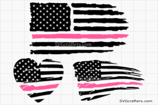 Print on Demand: American Nursing Svg, Breast Cancer Svg Graphic Crafts By SVGcrafters
