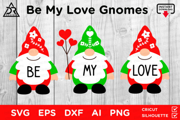 Print on Demand: Be My Love Gnomes  Graphic Crafts By davidrockdesign