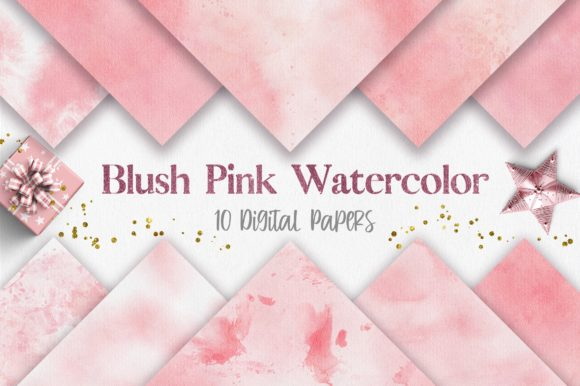 Blush Pink Watercolor Texture Background Graphic Backgrounds By PinkPearly