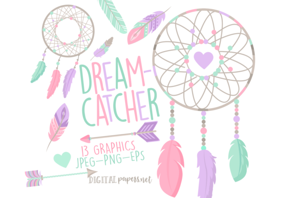 Print on Demand: Boho Dreamcatchers Graphic Illustrations By DigitalPapers
