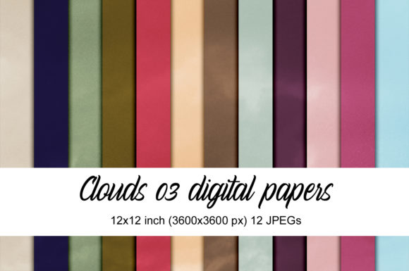 Print on Demand: Clouds 03 Digital Papers Graphic Textures By Andrea Kostelic