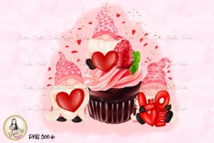 Print on Demand: Cupcake Gnomes Valentines Sublimation Graphic Illustrations By Suda Digital Art