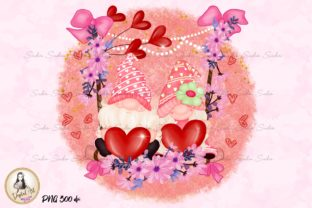Print on Demand: Cute Gnomes Sweet Valentines Sublimation Graphic Illustrations By Suda Digital Art