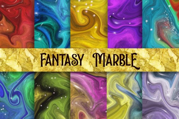 Fantasy Marble Background Digital Papers Graphic Backgrounds By PinkPearly