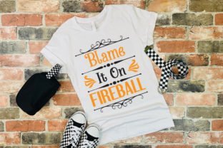 Print on Demand: Blame It on Fireball  Graphic Print Templates By Ifter Nishat