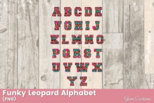 Funky Leopard Alphabet Graphic Crafts By Glam Creations