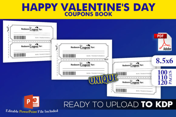 Print on Demand: Happy Valentine's Day Coupon Book | KDP Graphic KDP Interiors By Beast Designer