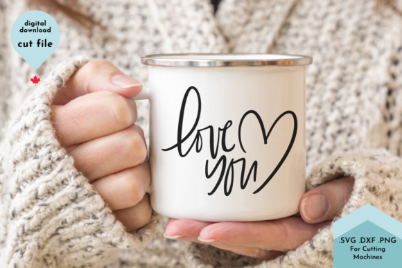 Print on Demand: Love You Hand Lettered, Valentines Graphic Crafts By Lettershapes