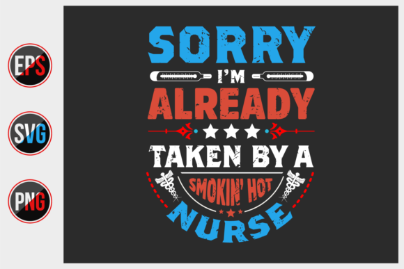 Print on Demand: Nurse Typographic Slogan Design Vector. Grafik Druck-Templates von ajgortee