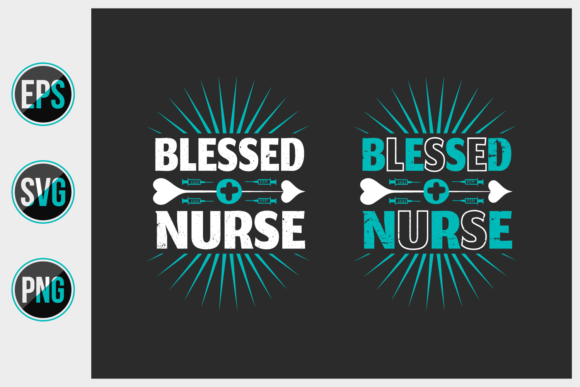Print on Demand: Nursing Typographic Slogan Design Vector Graphic Print Templates By ajgortee