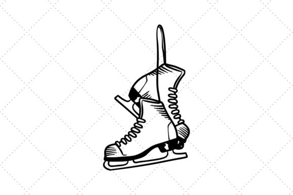 Pair of Ice Skates Hanging Graphic Crafts By Creative Divine