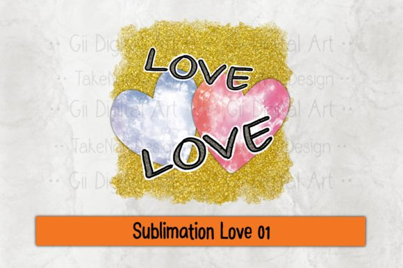Print on Demand: Sublimation Love 01 Graphic Crafts By Gii Digital Art
