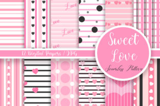 Print on Demand: Sweet Love Seamless Pattern Graphic Patterns By PinkPearly